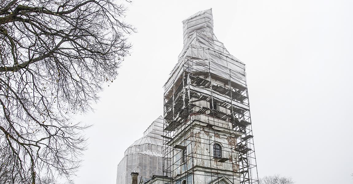 Реставрация храма.